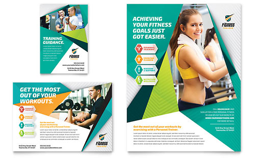 Fitness Trainer Flyer & Ad Template - Microsoft Office