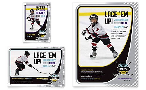 Junior Hockey Camp Flyer & Ad Template - Microsoft Office