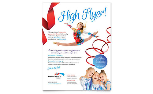 Gymnastics Academy Flyer Template - Microsoft Office