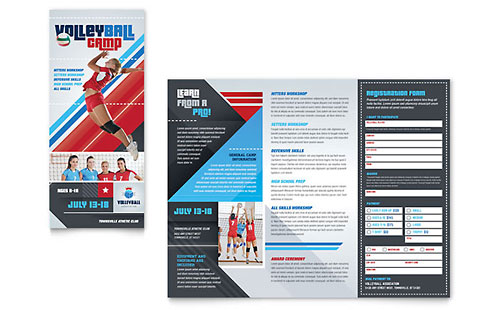 Volleyball Camp Brochure Template - Microsoft Office