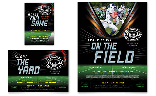 Football Training Flyer & Ad Template Design