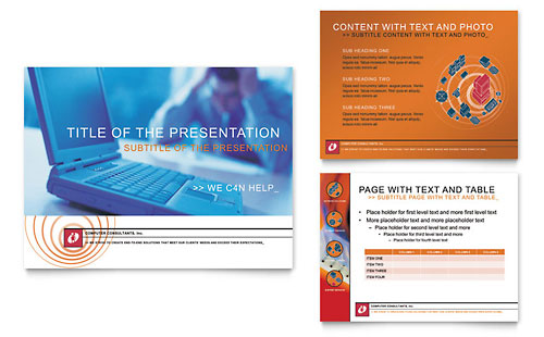 Computer Consulting Company PowerPoint Presentation Template - Microsoft Office