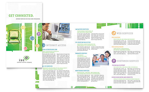 ISP Internet Service Brochure Template - Microsoft Office