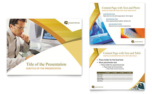 Computer Services & Consulting PowerPoint Presentation Template - Microsoft Office
