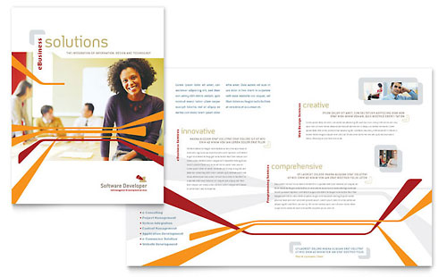 Software Developer Brochure Template - Microsoft Office