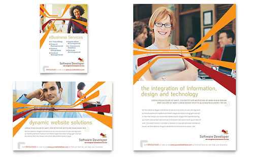Software Developer Flyer & Ad Template Design
