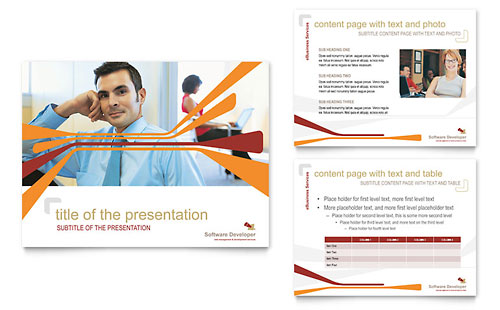 Software Developer PowerPoint Presentation Template - Microsoft Office