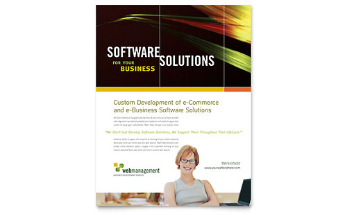 Internet Software Flyer Template Design