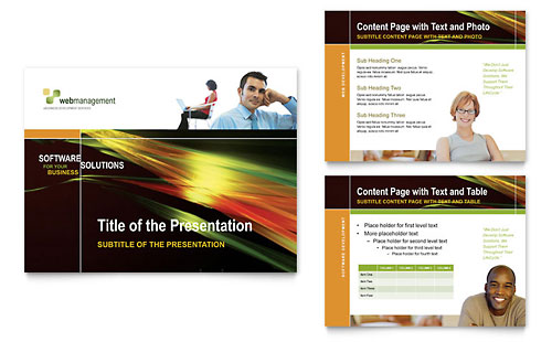 Internet Software PowerPoint Presentation Template - Microsoft Office