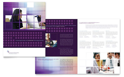Information Technology Brochure Template Design