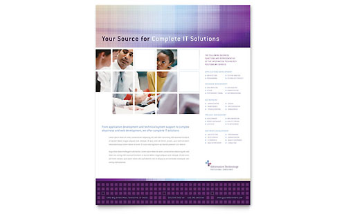 information technology brochure template