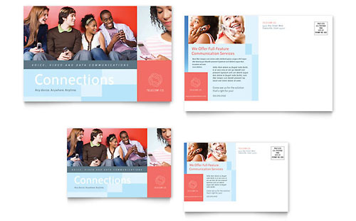 Communications Company Postcard Template - Microsoft Office