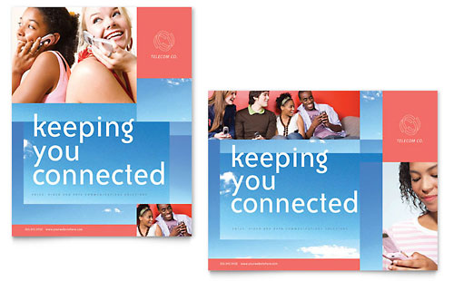 Communications Company Poster Template - Microsoft Office