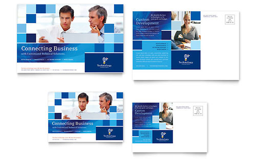 Technology Consulting & IT Postcard Template - Microsoft Office