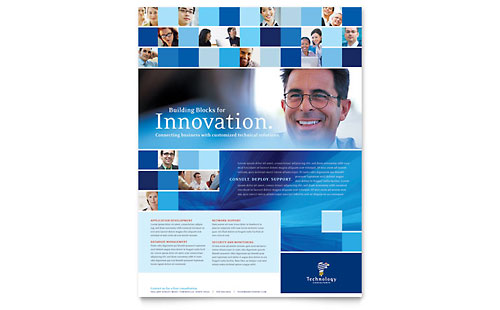 Technology Consulting & IT Flyer Template - Microsoft Office