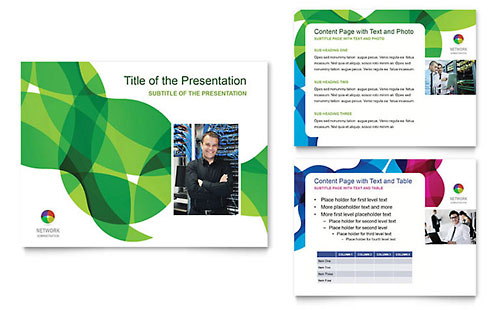 Network Administration PowerPoint Presentation Template - Microsoft Office
