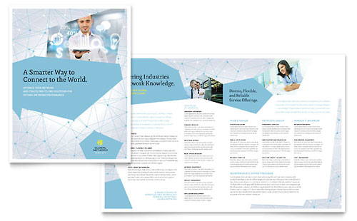 Global Network Services Brochure Template  Word  Publisher