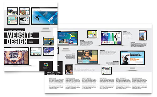 Website Designer Brochure Template - Microsoft Office