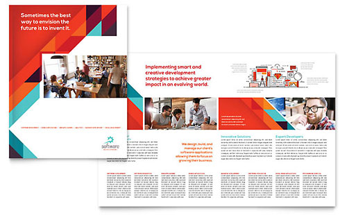 Application Software Developer Brochure Template - Microsoft Office