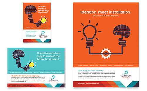Application Software Developer Flyer & Ad Template Design