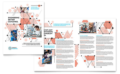Computer Engineering Brochure Template - Microsoft Word