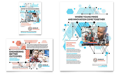Computer Engineering Flyer & Ad Template - Microsoft Office