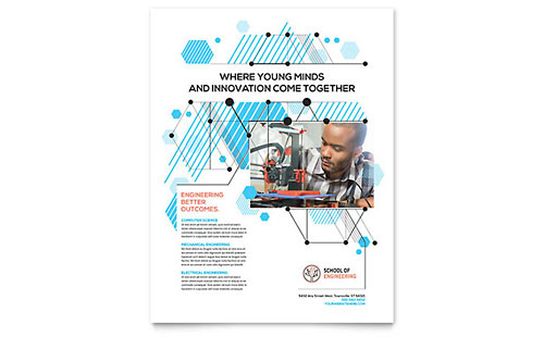 Computer Engineering Leaflet Template - Word & Publisher