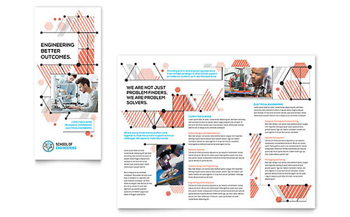Computer Engineering Tri Fold Brochure Template - Microsoft Office