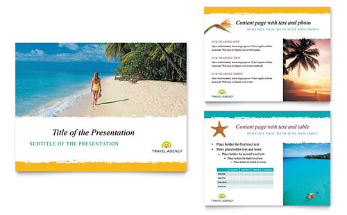 Travel Agency Presentation Template - Microsoft PowerPoint