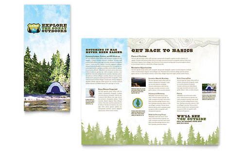 Nature Camping & Hiking Brochure Template - Microsoft Office