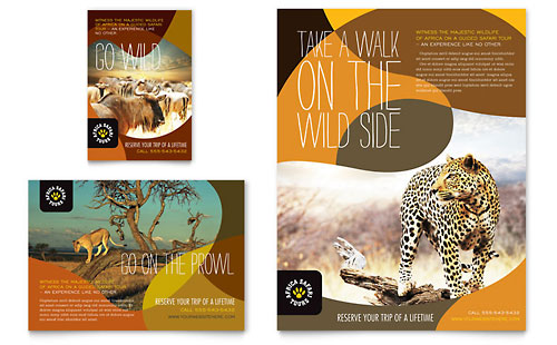 African Safari Flyer & Ad Template - Microsoft Office