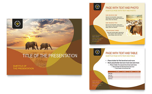 African Safari PowerPoint Presentation Template - Microsoft Office