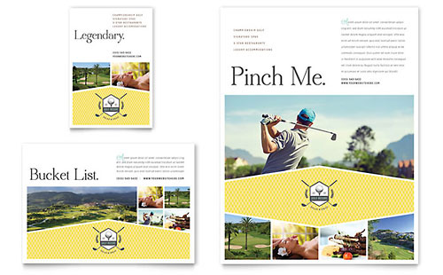 Golf Resort Flyer & Ad Template - Microsoft Office