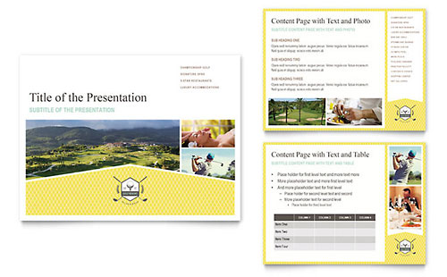 Golf Resort PowerPoint Presentation Template - Microsoft Office