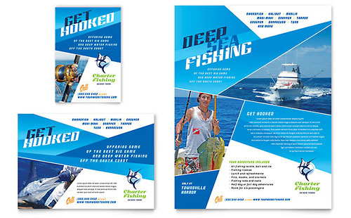 Fishing Charter & Guide Flyer & Ad Template - Microsoft Office