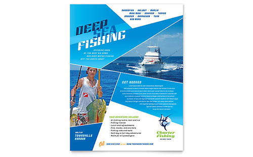 Fishing Charter & Guide Flyer Template - Microsoft Office