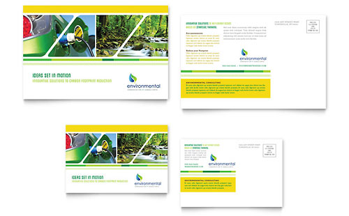 Environmental Conservation Postcard Template - Microsoft Office