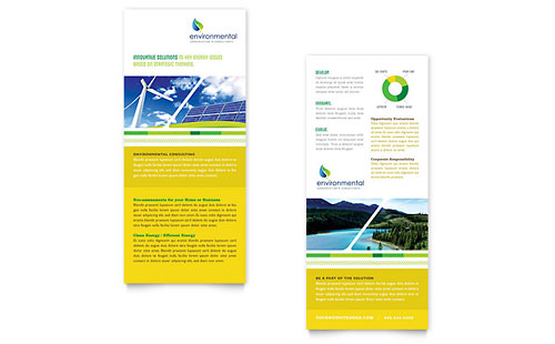 Environmental Conservation Rack Card Template - Microsoft Office