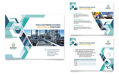 Oil & Gas Company Presentation Template - Microsoft PowerPoint