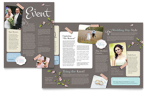 Wedding Planner Newsletter Template - Microsoft Office