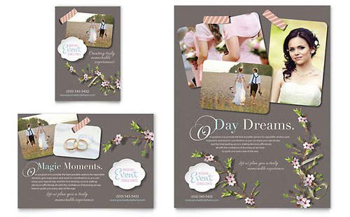 Wedding Planner Flyer & Ad Template - Microsoft Office