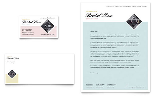 Bridal Show Business Card & Letterhead Template - Microsoft Office