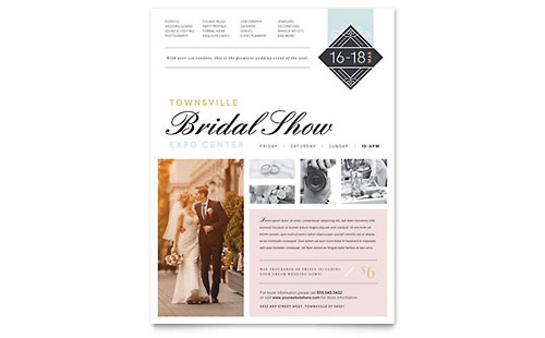 Bridal Show Leaflet Template - Word & Publisher