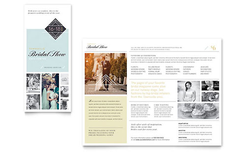 Bridal Show Tri Fold Brochure Template - Microsoft Office