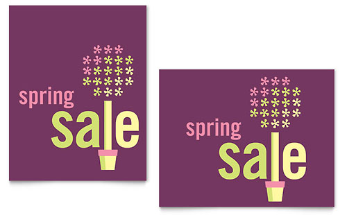 Spring Plant Sale Poster Template - Microsoft Office