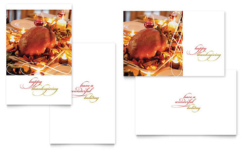 Happy Thanksgiving Greeting Card Template - Microsoft Office