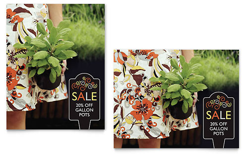 Garden Plants Sale Poster Template - Microsoft Office