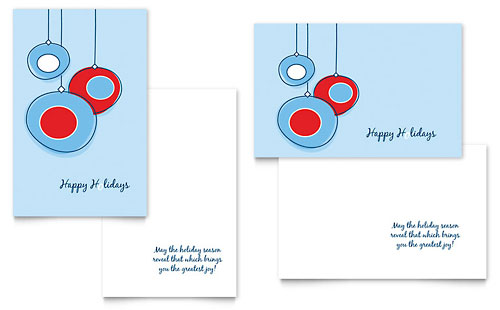 microsoft office greeting card template