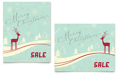 Christmas - Poster Templates - Word & Publisher