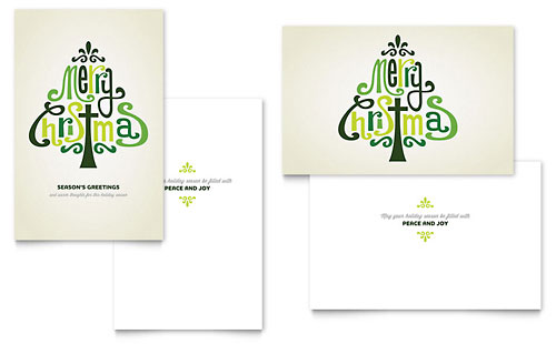 Contemporary Christian Greeting Card Template - Word & Publisher